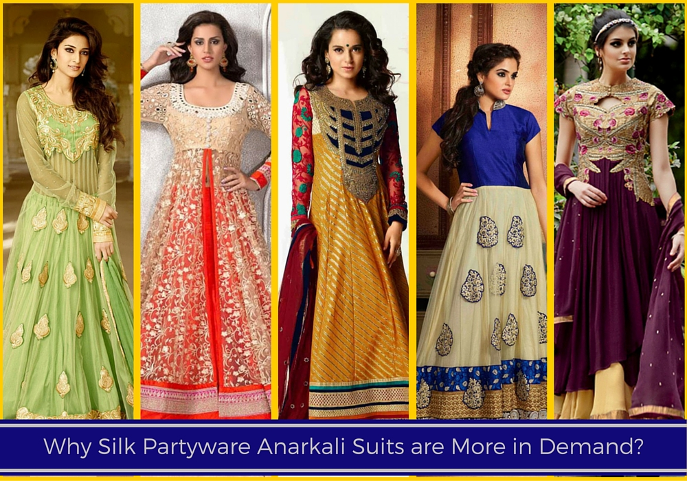 Silk Partyware Anarkali Suits