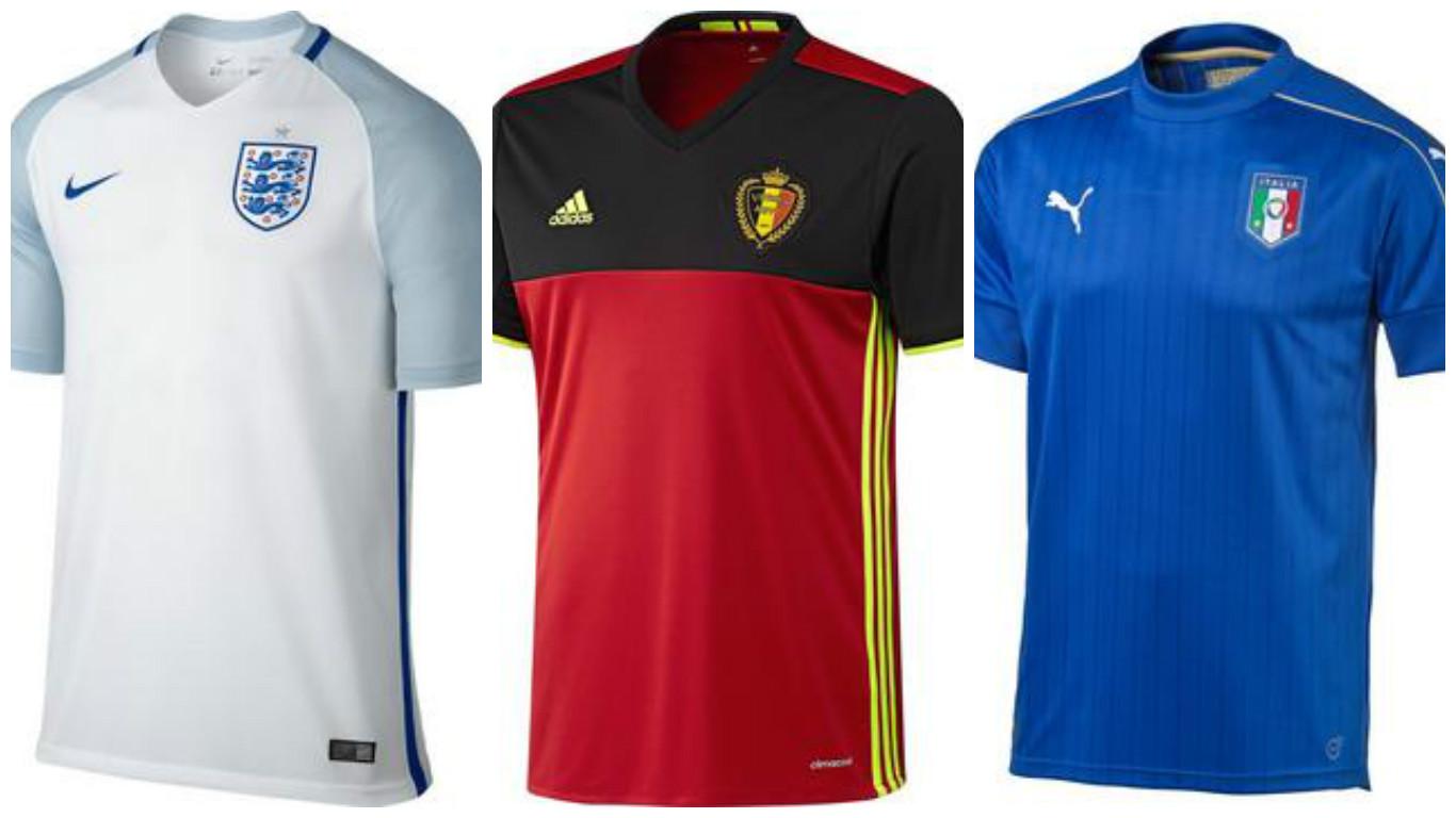 Euro2016 home jerseys