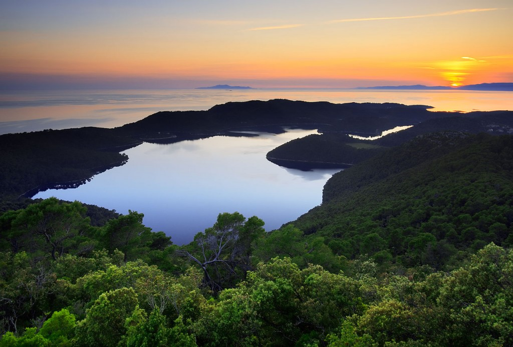 Mljet-salt-lakes